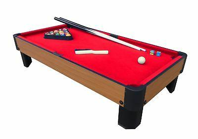 bank shot 40 inch pool table red