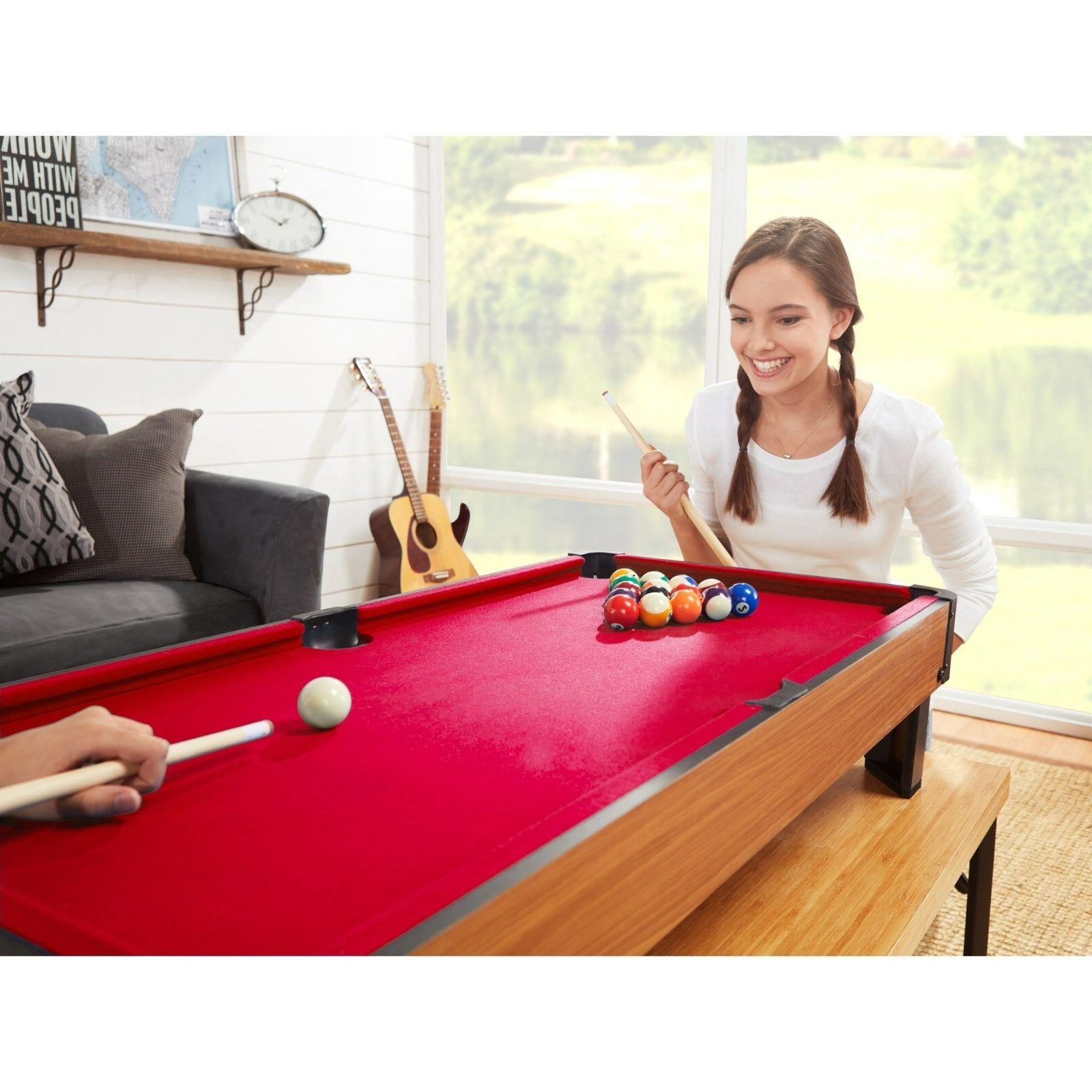"""Playcraft Sport Bank Shot 40"""" Table - Red Cloth"""