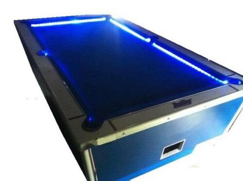 Bar Billiard Pool Table Bumper Changing Lights
