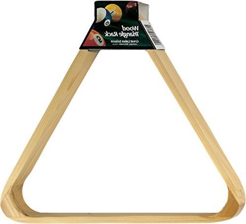 Viper Billiard/Pool Table Accessory: 8-Ball Rack, Triangle, Holds Sized Balls