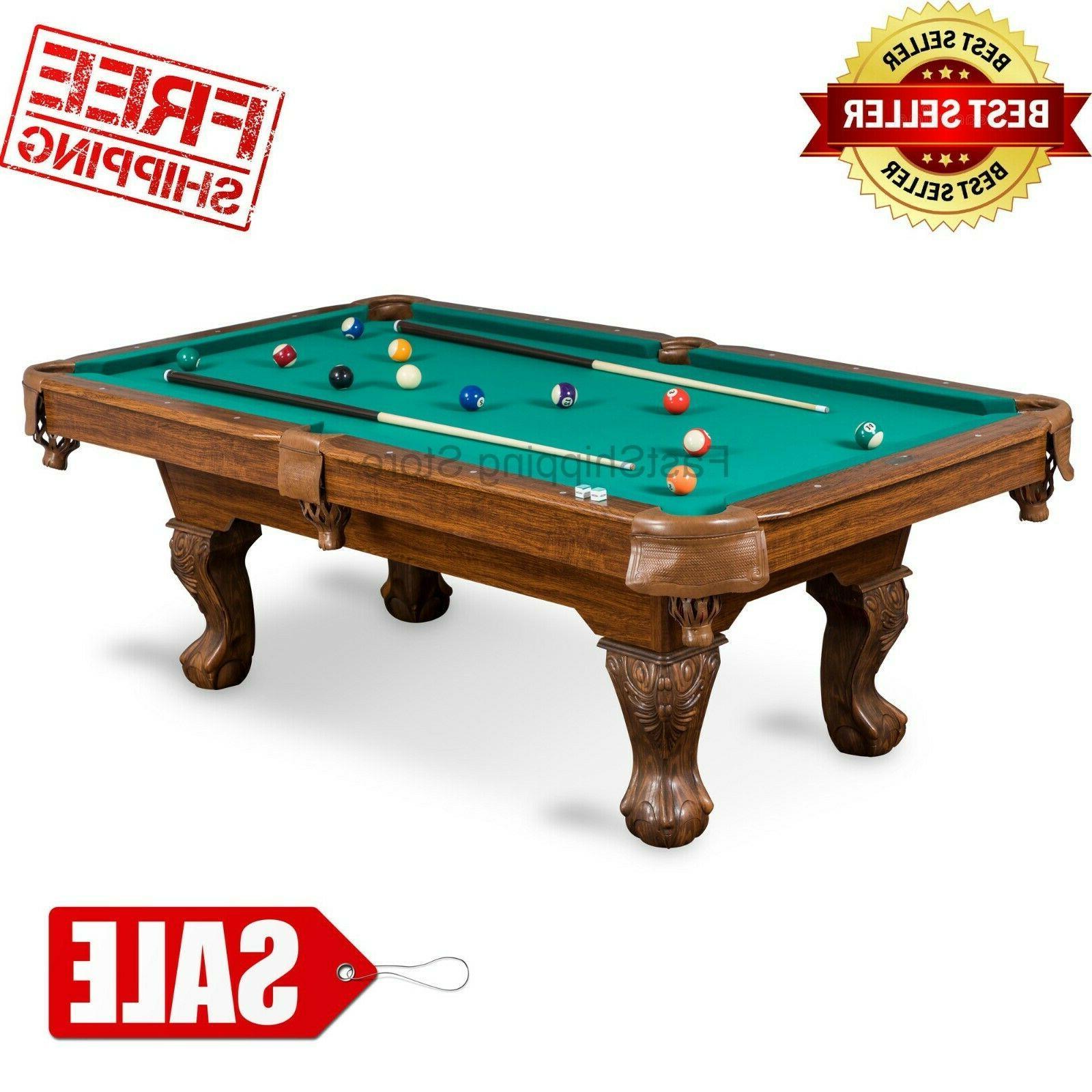 billiard pool table tan cloth complete set