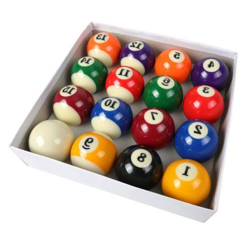 "Pool Table Billiard Ball Set 2-1/4"" Regulation Size Complete"