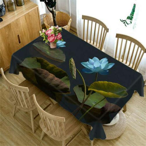blue petal pool 3d tablecloth table cover