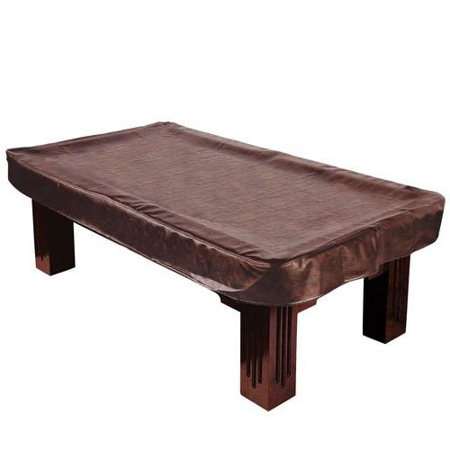 brown heavy leatherette table cover