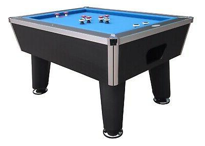 bumper pool table in black slate professional
