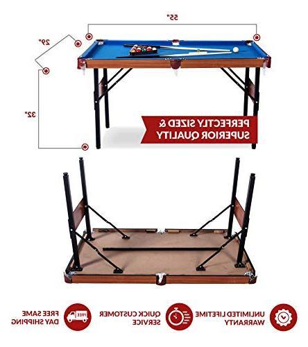 Rack Crux 4.5-Foot Billiard/Pool Includes Accessories Set