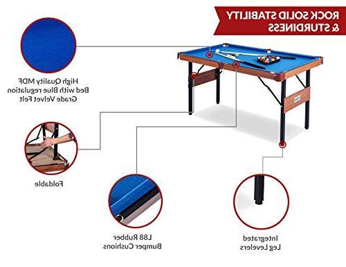 Rack Foldable Billiard/Pool Table, Complete Accessories