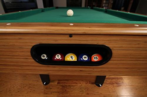 Mizerak Dynasty Space Saver 6.5' Billiard Table with Compact to in Leg Levelers for Perfectly Even Playing Double-sealed MDF Play-bed for Consistent and Automatic for Quick