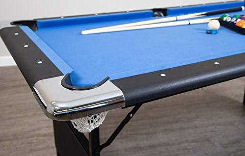 Hathaway Pool Table with Easy Storage, Chalk
