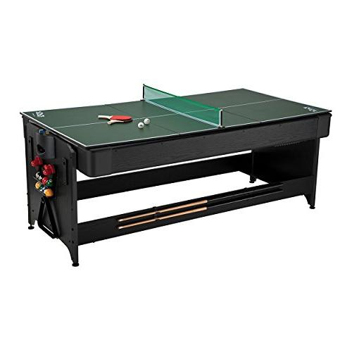 Fat 7ft Black Billiards, Table