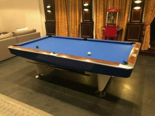 Brunswick I Pool Table restored in white royal