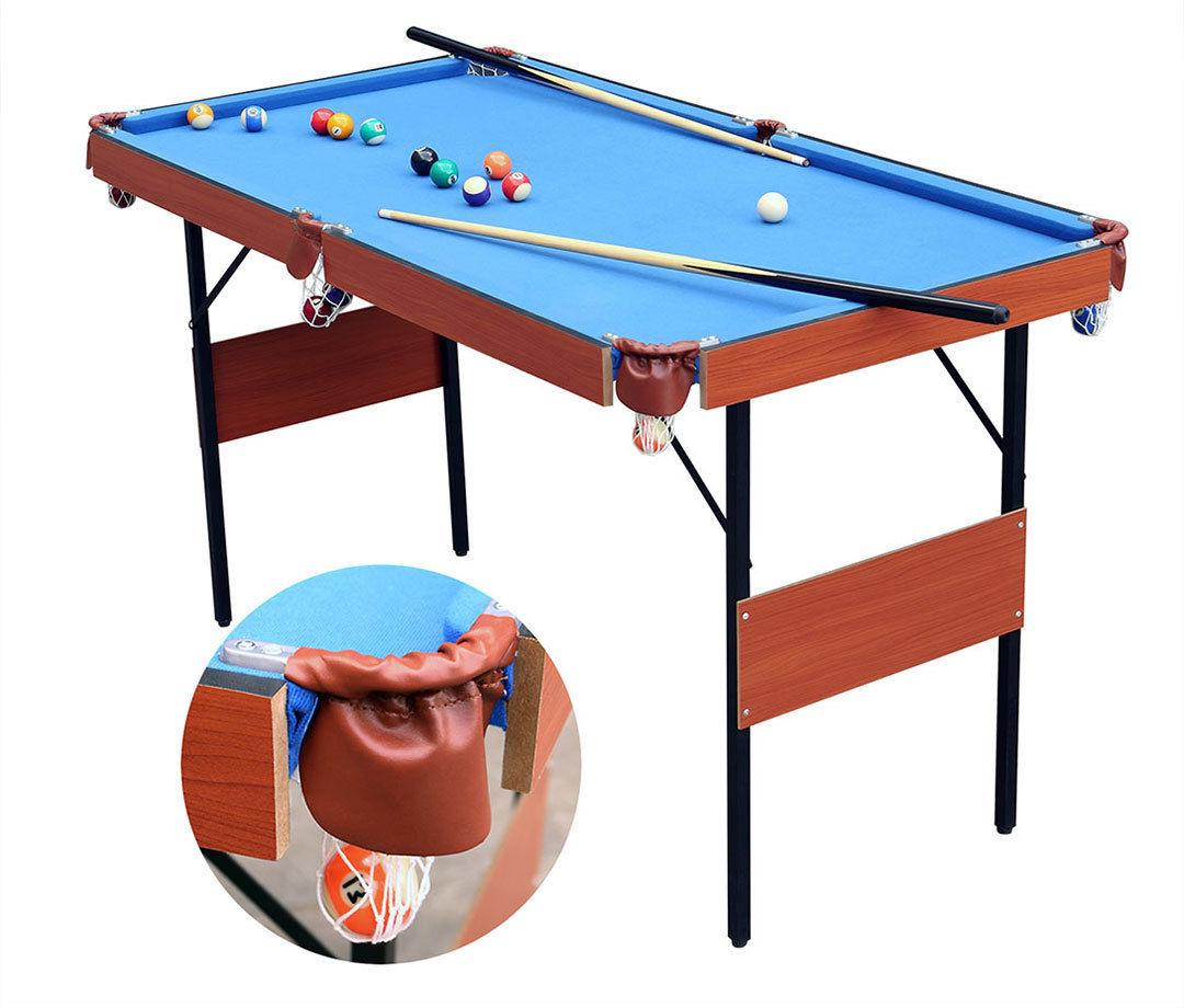 Indoor Folding Pool Snooker Billiard Balls Cues Xmas Gift