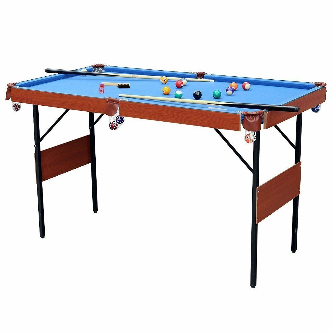 Indoor Billiard Game Table Balls Cues Kids Gift