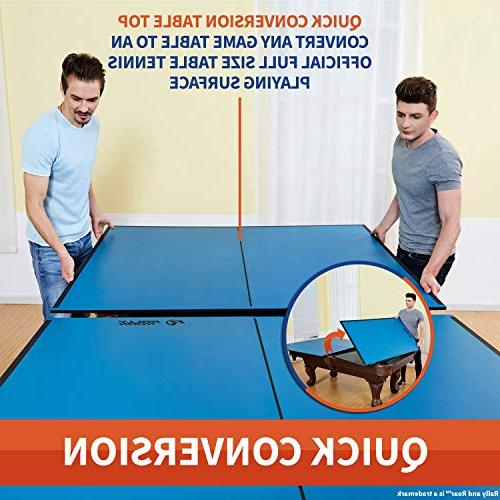 """Indoor Top Net by & – Set, 1/2"""" Up, Portable Tops, Space Saving Size Friend Game Fun"""