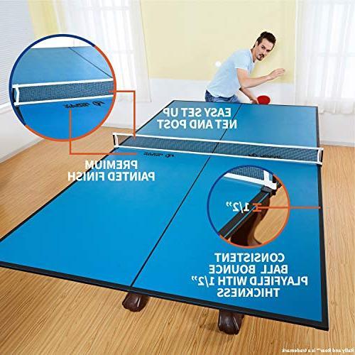 "Indoor Tennis Top by Rally – 4 Piece Set, 1/2"" Up, Saving Regulation Tournament Friend Room Fun"