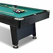 Lancaster 90 Inch Game Billiard Table with Balls Cue, Green