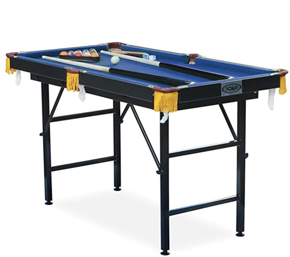 leo 4 foot foldable billiard pool table