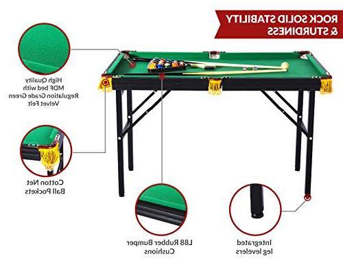 Rack Leo 4-Foot Billiard/Pool Table, Includes Accessories
