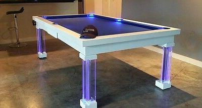 LUXURY CONVERTIBLE TABLE Billiard Dining Fusion MONACO ft