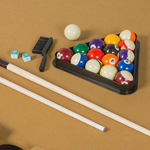 EastPoint Sports Masterton Billiard Pool Table Felt , Features and Parlor Drop Pockets - Includes Cues, Triangle