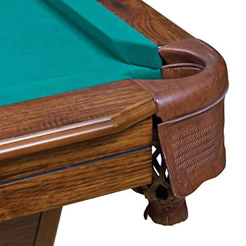 EastPoint Sports Pool Table - Green - Inch - Features Material with Built-in Leg