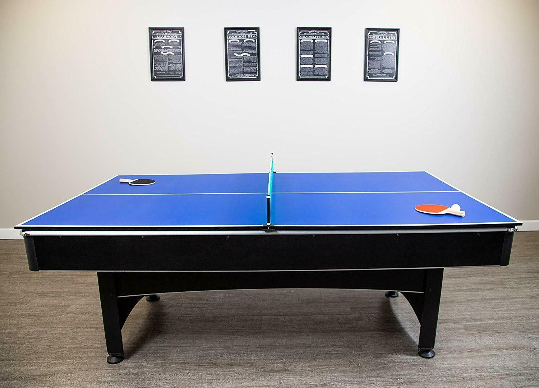 Hathaway Maverick 7-foot Pool / Table Tennis Game w/ Red Fel
