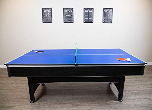 Hathaway 7-foot Pool and Table Game with and Table Tennis Surface. and