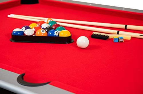 Hathaway Maverick 7-foot Pool Game and Blue Surface. Cues, and