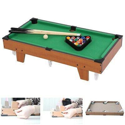 Small Mini Billiard Pool Table Cues Balls Home Game Room Pla