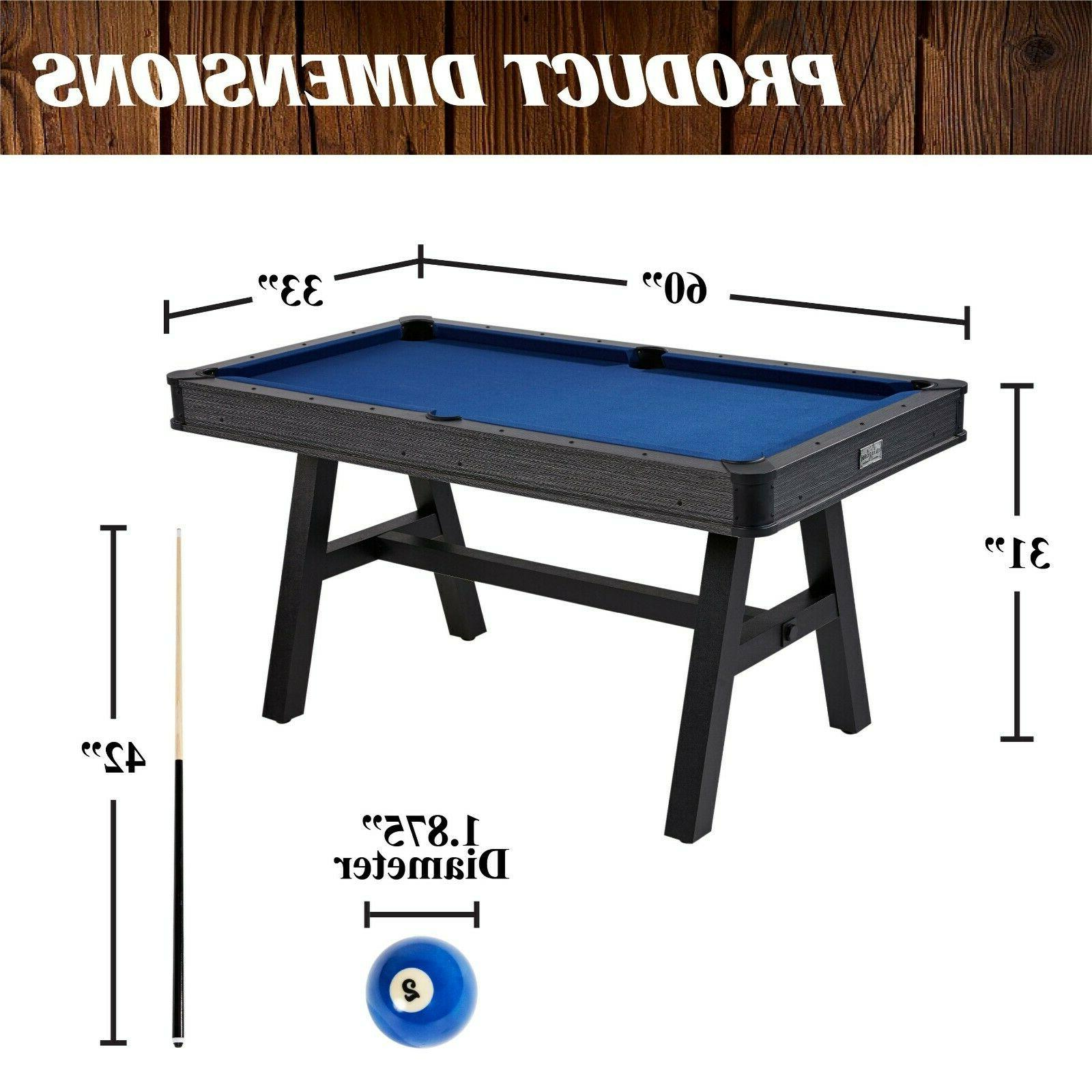 Mini Indoor Billiard Game Chalk Cues 1 Triangle