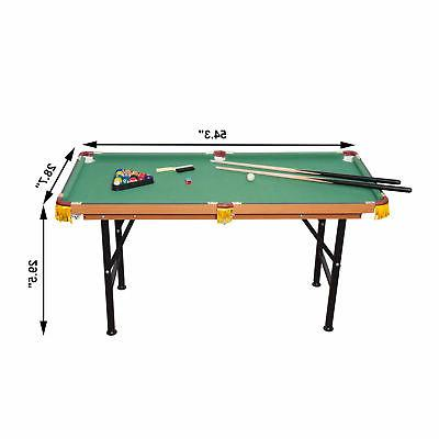 New 4.5ft Table Top Pool Game Billiard Balls Set cues