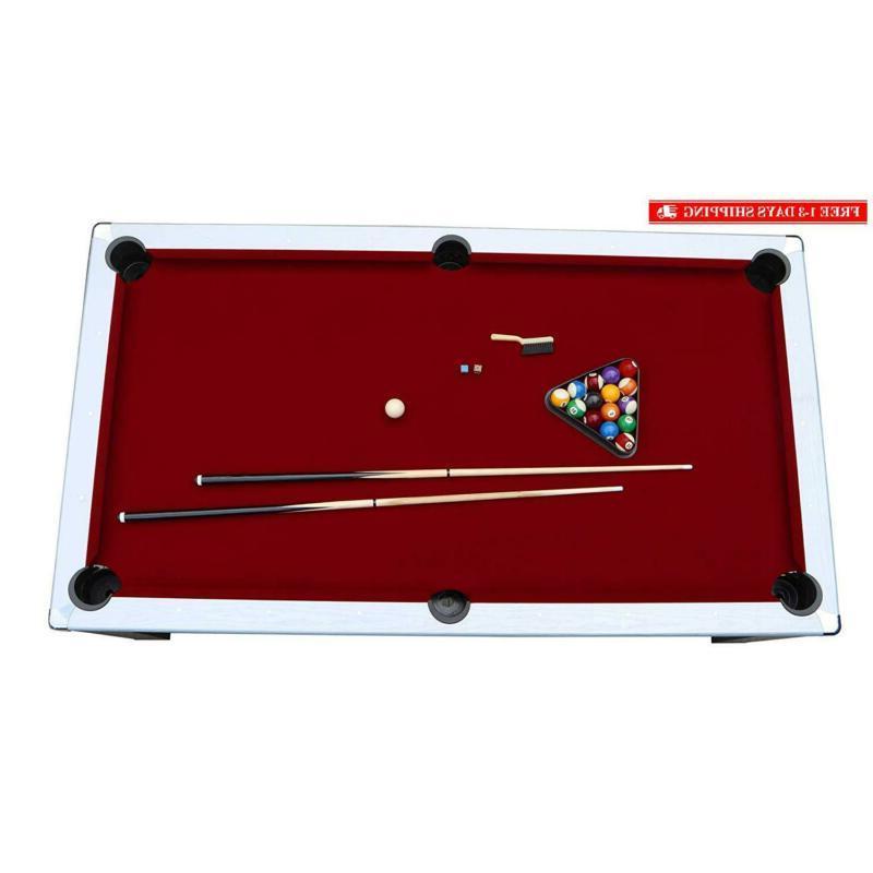 Hathaway 7.5' Pool Table, Black/Red
