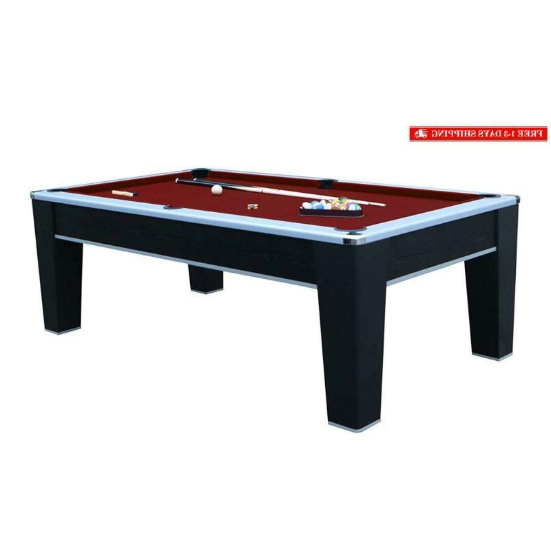 mirage 7 5 pool table black red
