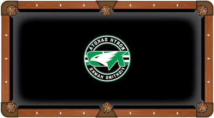 ncaa north dakota pool table cloth college