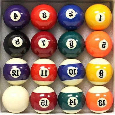 new 16 pool table billiard ball set