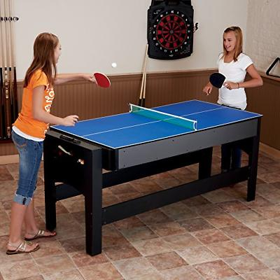 Fat Cat Original 7-Foot Game Air Hockey, Billiards and