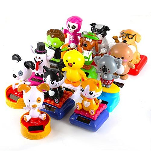 Plastic Automatic Shake Car Trim Vary Animal Toys Dashboard Office Home Decor