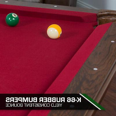 """Pool Billiard Sport Game Room 87"""" Traditional-Style"""