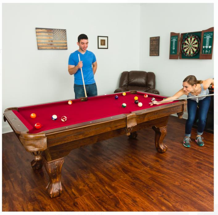 Billiard table inch Brighton Scratch Game Burgundy Cloth