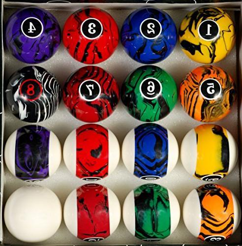 Pool Ball Set, Color Swirl