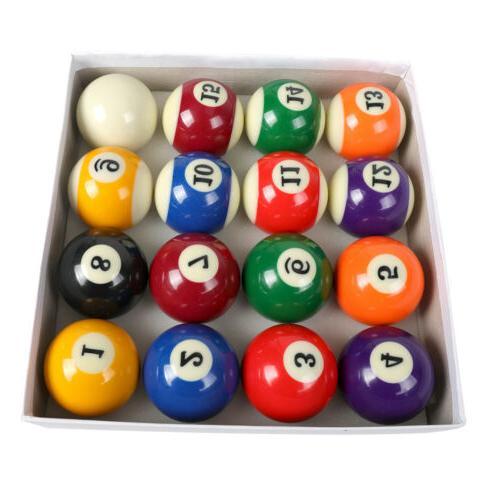 """Billiards Pool Table Billiard Ball Standard Size 2-1/4"""" Full"""
