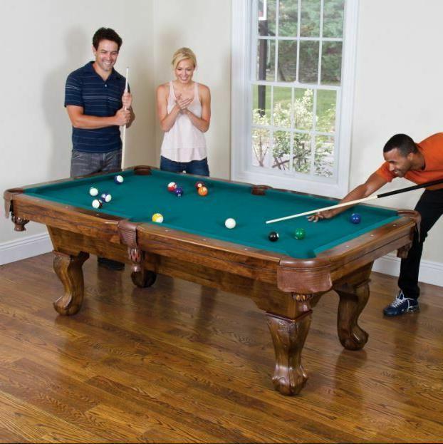 pool billiard table traditional drop pocket dining
