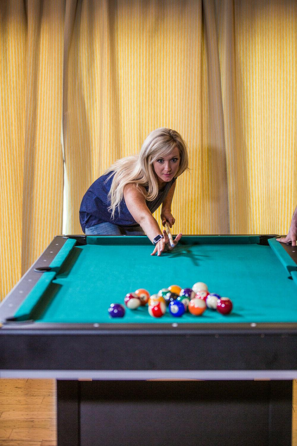 Pool Table Billiards With Tennis