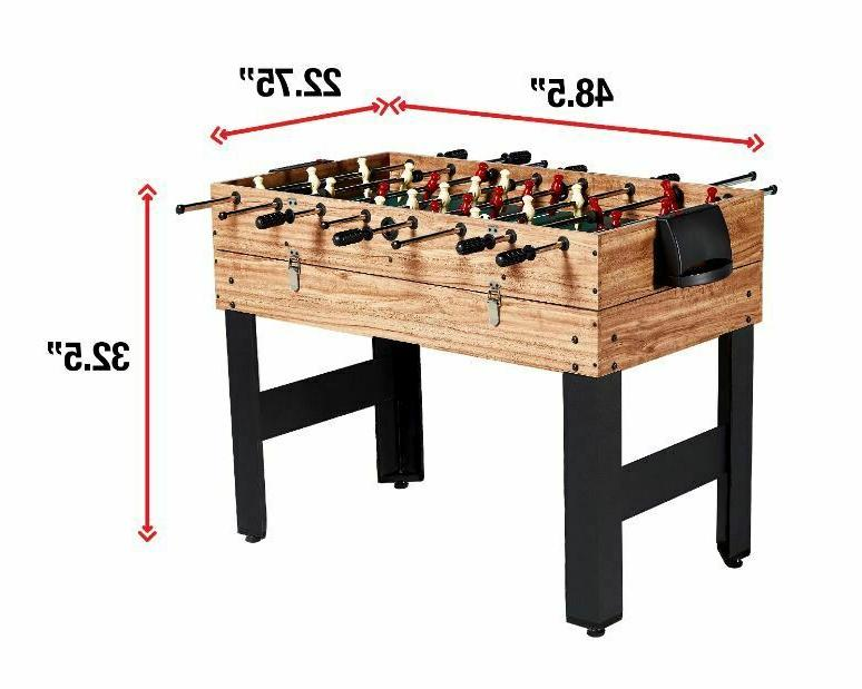 Pool Combo Billiards Hockey Foosball Sturdy Game Kids Accessories