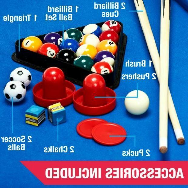 Pool Combo Hockey Foosball Sturdy Game Kids Family