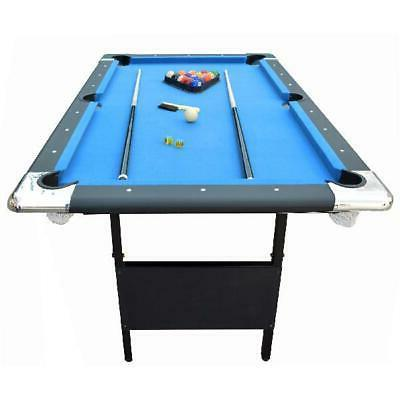 Portable Pool Table Ft Indoor Folding Storage Balls Cues Chalk