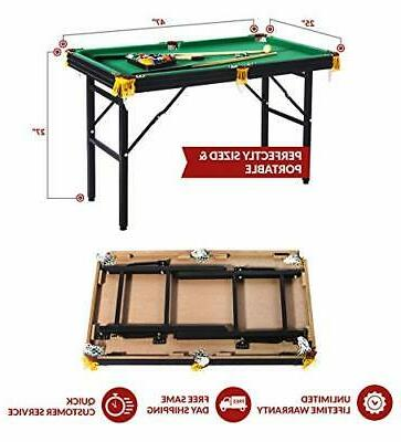 Rack Leo 4-Foot Foldable Billiard/Pool Table