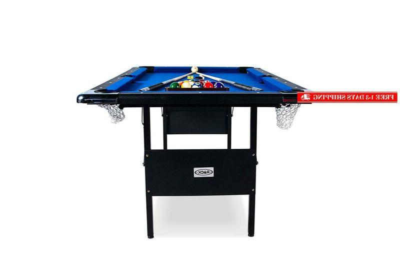 Rack Foldable Billiard/Pool Table, Includes Accessories Set