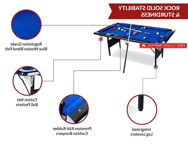 Rack Vega Billiard/Pool Table, Includes Accessories