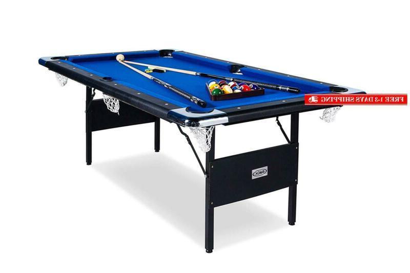 rack vega foldable 6 foot billiard pool